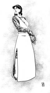 Octavia in medician attire: artwork by Darryl Knickrehm