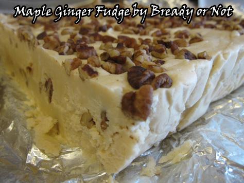 Maple Ginger Fudge