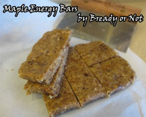 Maple Energy Bars