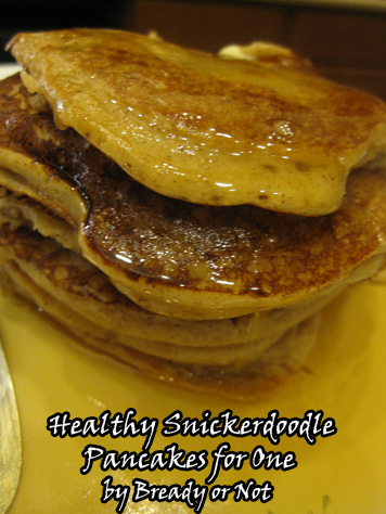 Snickerdoodle Pancakes for One