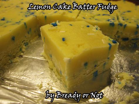 Lemon Cake Batter Fudge