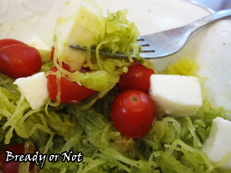 Bready or Not: Lemon-Basil Vinaigrette with Spaghetti Squash ...