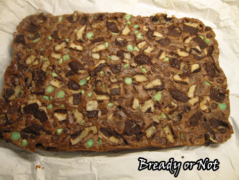 Mint Choc Chip Bars