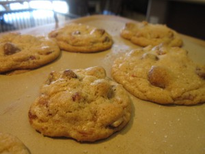 bacon fat choc chip cookies