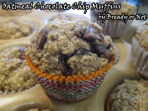 Oatmeal Choc Chip Muffins
