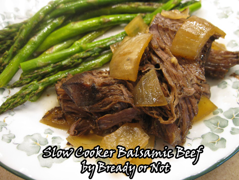 Crock Pot Balsamic Shredded Beef