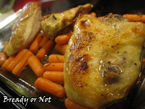 Honey Roasted Chicken and Carrots