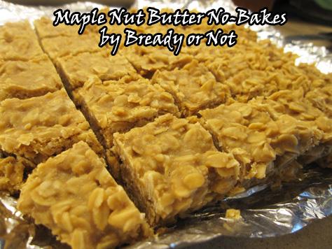 No Bake Maple PB Oat Bars
