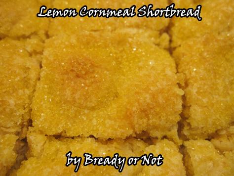 Lemon Cornmeal Shortbread