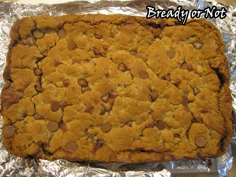 Bready or Not: Chewy Chocolate Stuffed Cookie Bars