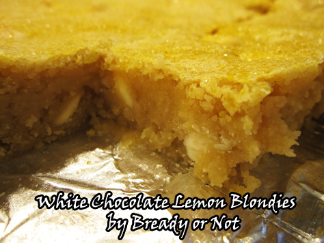 Bready or Not: White Chocolate Lemon Blondies