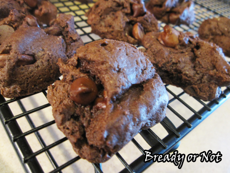 Bready or Not: Double Chocolate Cheesecake Cookies
