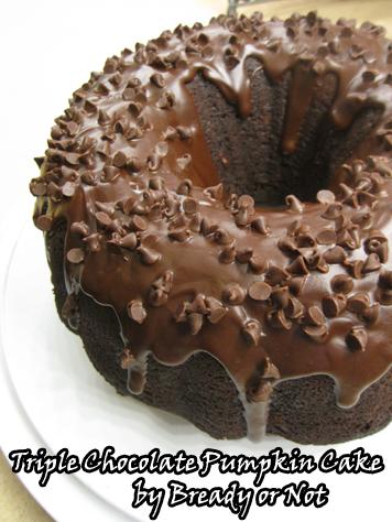 Bready or Not: Triple Chocolate Pumpkin Cake