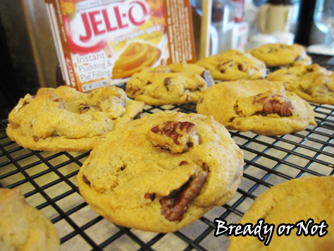 Bready or Not: Chocolate Chip Pecan Pumpkin Pudding Cookies