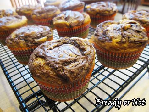 Bready or Not: Pumpkin Nutella Swirl Muffins