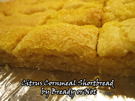 Bready or Not: Citrus Cornmeal Shortbread | BethCato.com