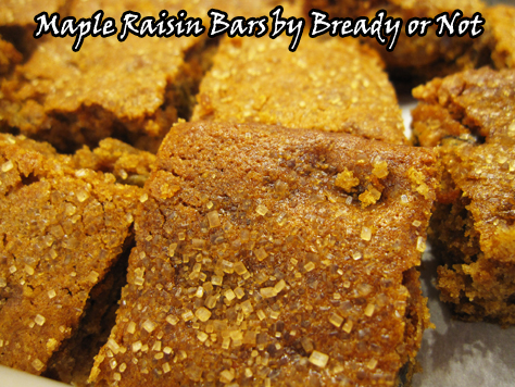 Bready or Not: Maple Raisin Bars