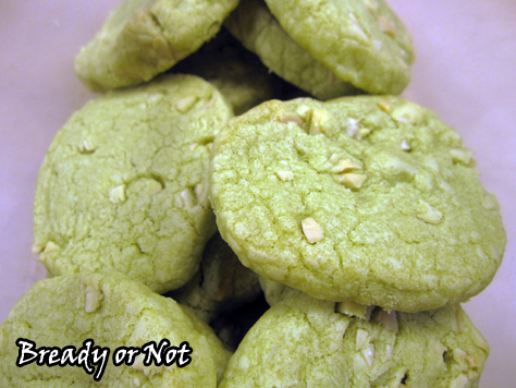 Bready or Not Original: Matcha (Green Tea) Almond Cookies