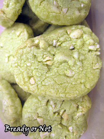 Bready or Not Original: Matcha (Green Tea) Almond Cookies
