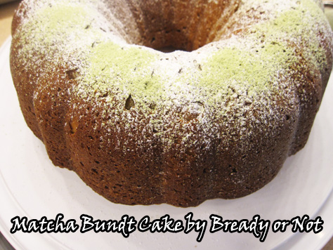 Bready or Not: Matcha Green Tea Bundt Cake