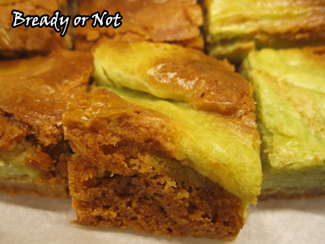 Bready or Not: Matcha Green Tea Cheesecake Bars