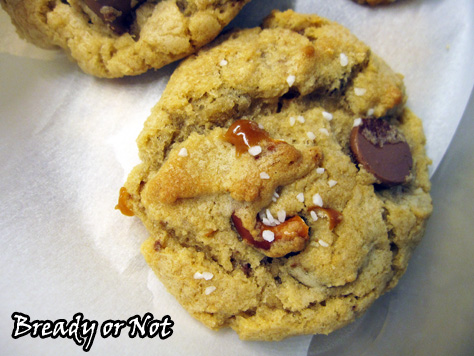 Bready or Not: Caramel Pretzel Chocolate Chip Cookies
