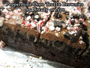Bready or Not Original: Peppermint Oreo Truffle Brownies