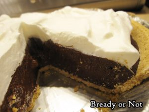 Bready or Not Original: No Bake Chocolate Peppermint Pudding Pie
