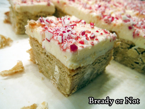 Bready or Not: White Chocolate Peppermint Blondies