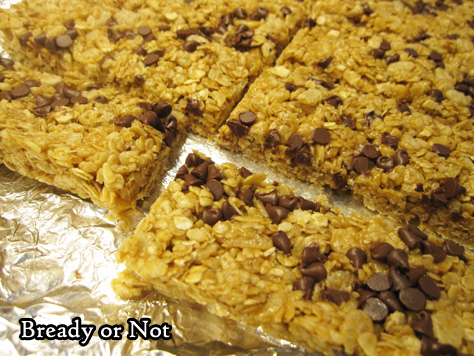 Bready or Not: No-Bake Peanut Butter Chocolate Chip Granola Bars