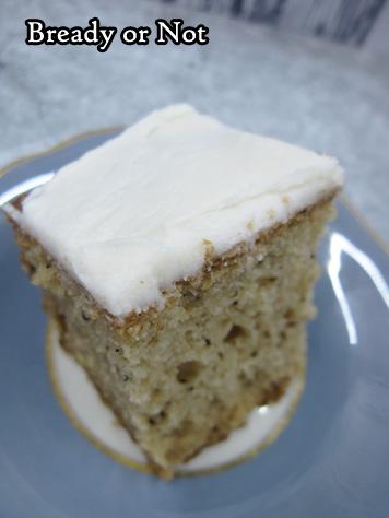 Bready or Not Original: Glazed Earl Grey Maple Gingerbread Sheet Cake