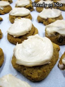 Bready or Not: Pumpkin Cookies with Penuche Frosting