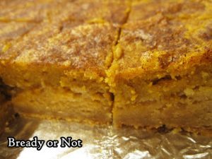 Bready or Not: Pumpkin Pie Snickerdoodle Bars