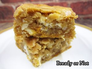 Bready or Not Original: Macadamia Nut Caramel Chip Blondies
