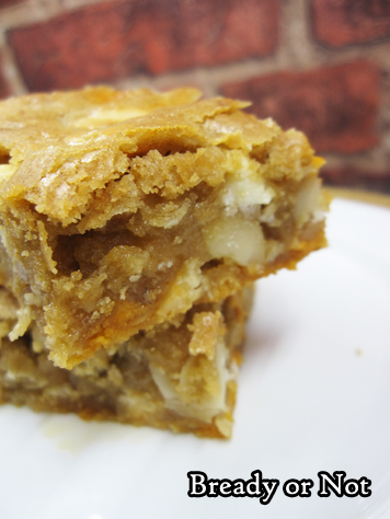 Bready or Not Original: Macadamia Nut Caramel Chip Blondies