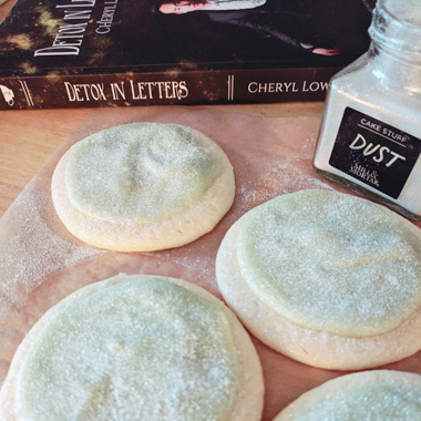 DETOX IN LETTERS Sugar Cookies with Avocado Frosting by Cheryl Low