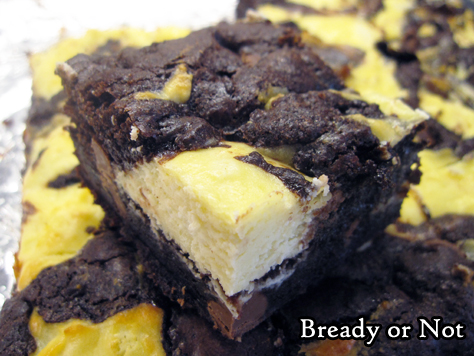 Bready or Not Original: Swirled Goat Cheese Brownies