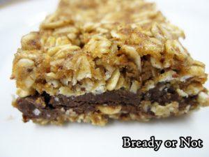 Bready or Not Original: No Bake Chocolate Almond Oatmeal Bars [Gluten Free]