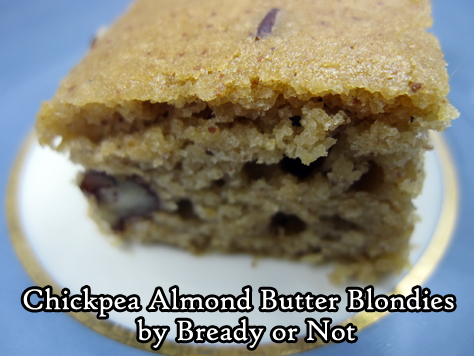 Bready or Not Original: Chickpea Almond Butter Blondies