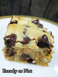 Bready or Not: Peanut Butter Chocolate Chip Bars