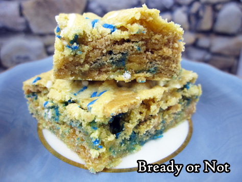 Bready or Not: Oreo Thins Cake Batter Blondies [cake mix]