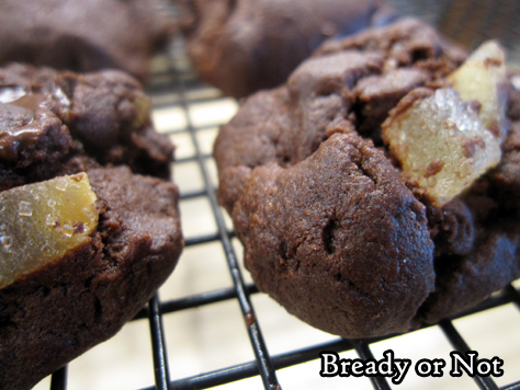 Bready or Not: Double Chocolate-Candied Ginger Cookies