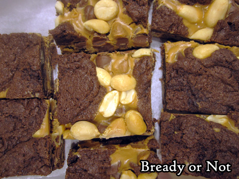 Bready or Not: Chocolate Peanut Butter Bars [cake mix]