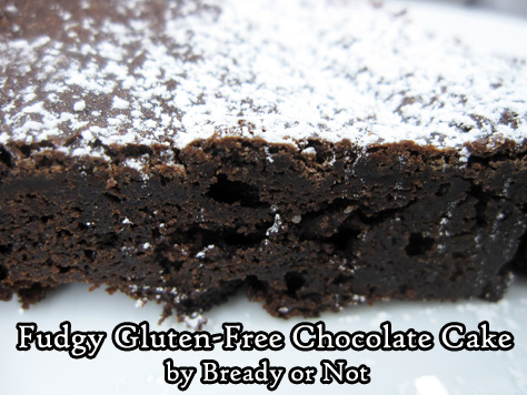 Bready or Not: Fudgy Chocolate Gluten-Free Cake