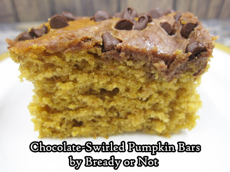 Bready or Not: Chocolate-Swirled Pumpkin Bars