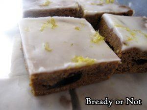 Bready or Not Original: Glazed Lemon Ginger Bars