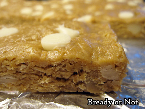 Bready or Not Original: White Chocolate Macadamia Nut Granola Bars [Gluten Free]