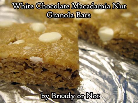 Bready or Not Original: White Chocolate Macadamia Nut Granola Bars [Gluten Free]