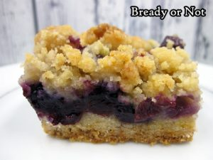 Bready or Not Original: Blueberry Crumble Bars