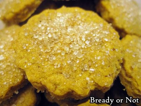 Bready or Not Original: Pumpkin Shortbread Cookies